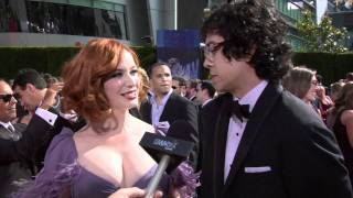 Christina Hendricks and Geoffery Arend: 62nd Primetime Emmys Red Carpet 2010