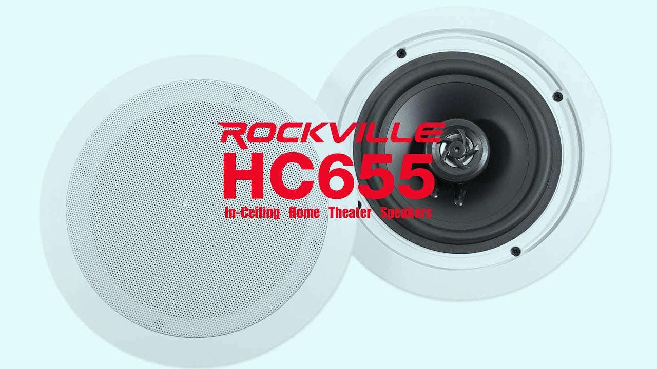 The Rockville HC655 In-Ceiling Speakers are BEAUTIFUL & POWERFUL ...
