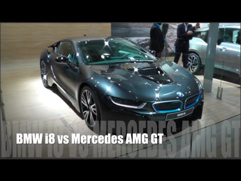 Bmw I8 2015 Vs Mercedes Amg Gt 2015 Youtube