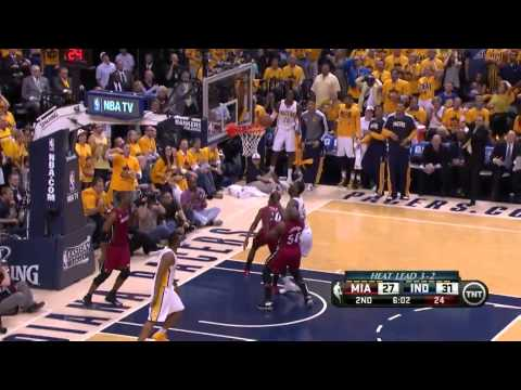 Roy Hibbert Blocks Ray Allen & Sam Young Try To Dunk Over Chris Bosh