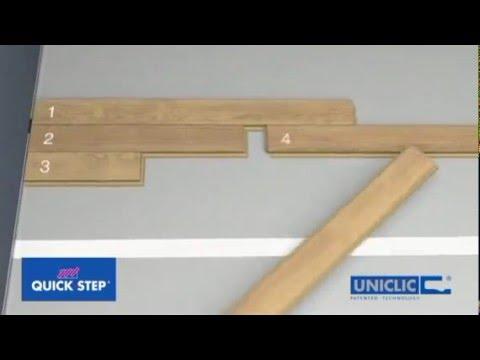 Укладка ламинат Quick-Step с замком Uniclic