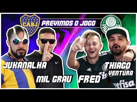 Prevendo a Semi-Final da Libertadores com Fred, Ventura, Jukanalha e Mil Grau.