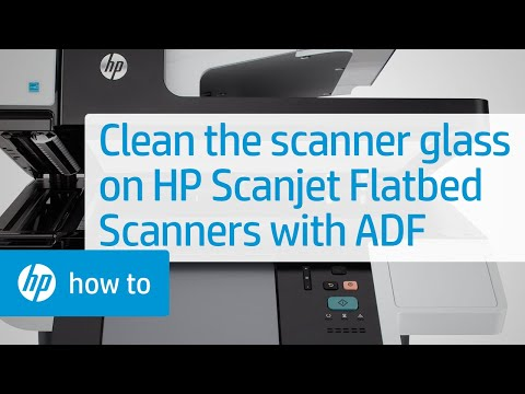 Cleaning the Scanner Glass on HP Scanjet Flatbed Scanners with an ADF   HP