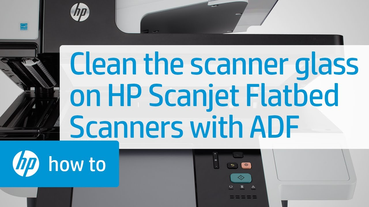 cleaning the scanner glass on hp scanjet flatbed scanners with an
