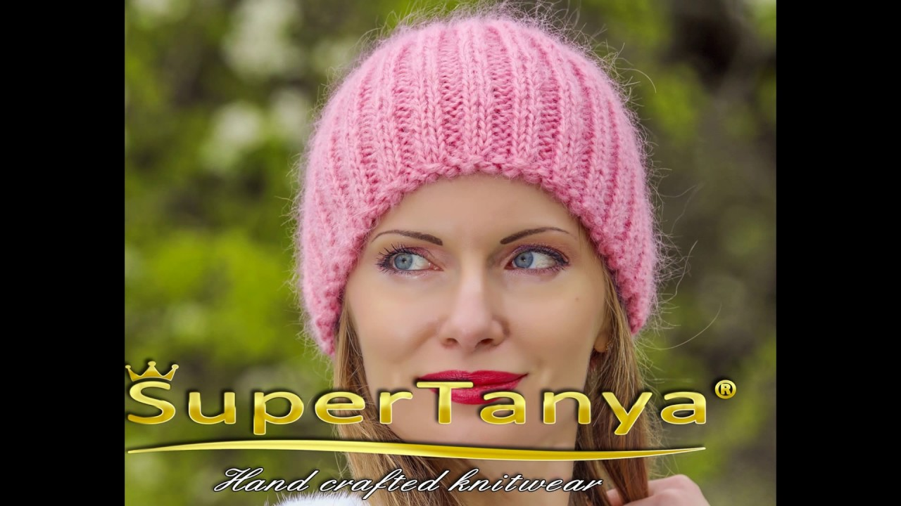 Pink mohair beanie hat by SuperTanya - YouTube 3603dc9badd
