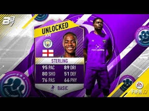 FUT 17 CREATION EQUIPE STERLING DEFI ANGLETERRE POUR 22K