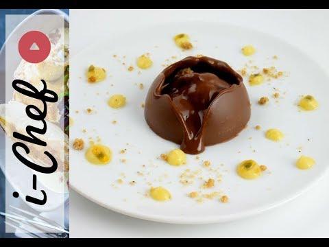 sphère-en-chocolat,-ganache-chocolat-fruit-de-la-passion-•-i-chef