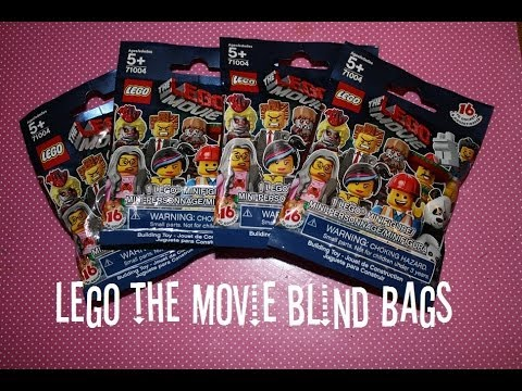 Lego The Movie Minifigures Blind Bags Opening Youtube