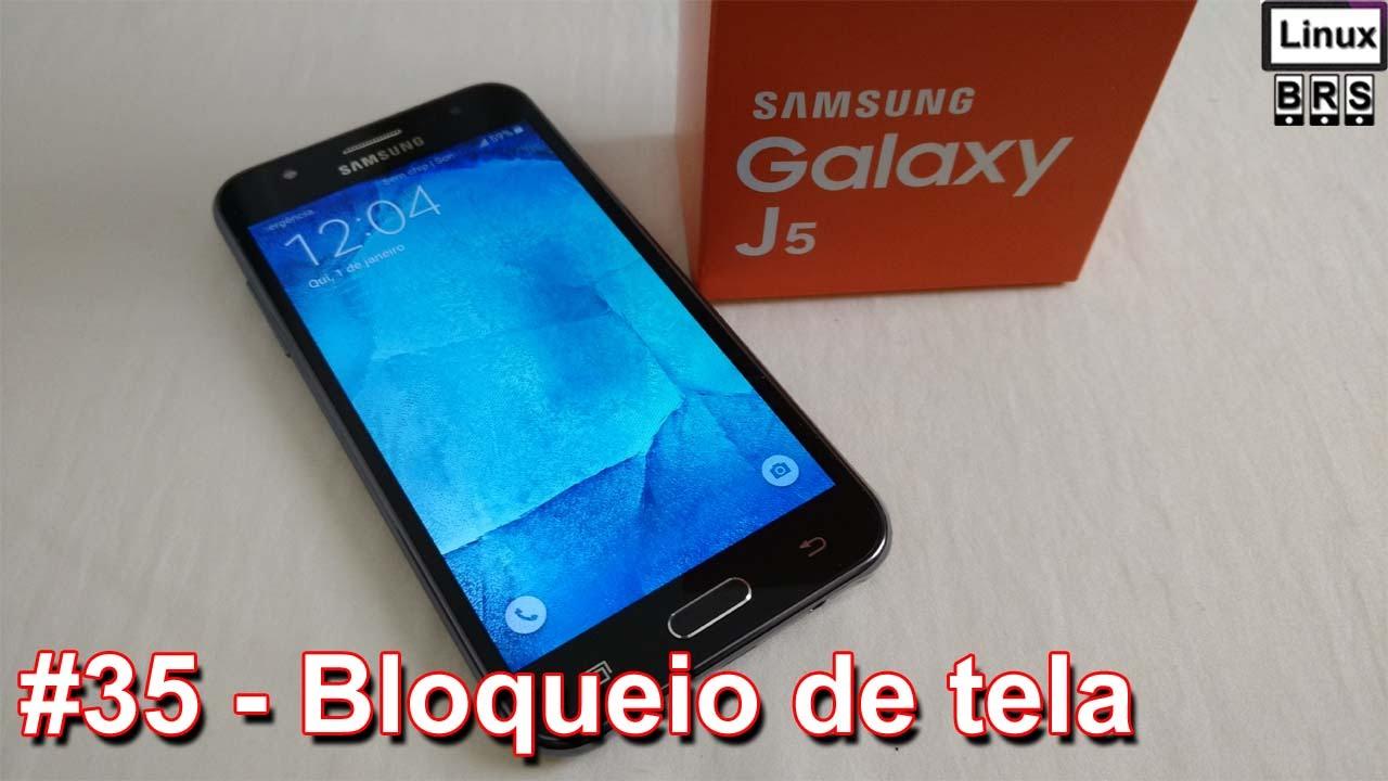 Samsung Galaxy J5 - Bloqueio de tela (tipos) - Português - YouTube