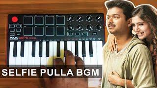 Kaththi - Selfie Pulla Song bgm | Cover By Raj Bharath  | Akai Mpk mini |