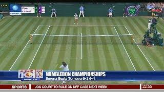 Serena Beats Tomova 6-1 6-4 In Wimbledon Championship Pt 4 | News@10 | 04/07/18