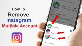 how to remove Instagram multiple account sign in || delete multiple account sign in from Instagram