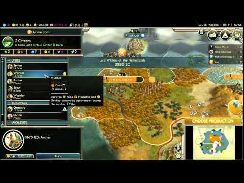 Let's Play Civilization V: Gods & Kings; Prince of Orange (Deity) P1