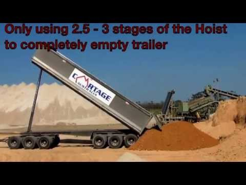 Cartage Australia 6 Axle Dog Trailer With Quicksilver Liner Fitted  Tipping Corse Sticky Sand