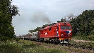 Тепловоз ТЭП70БС-123 с поездом №110 Москва — Анапа