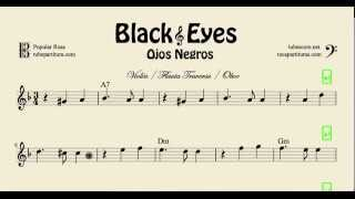 Video Ojos Negros Partitura de Violín Flauta Travesera y Oboe Black Eyes download MP3, 3GP, MP4, WEBM, AVI, FLV Mei 2018
