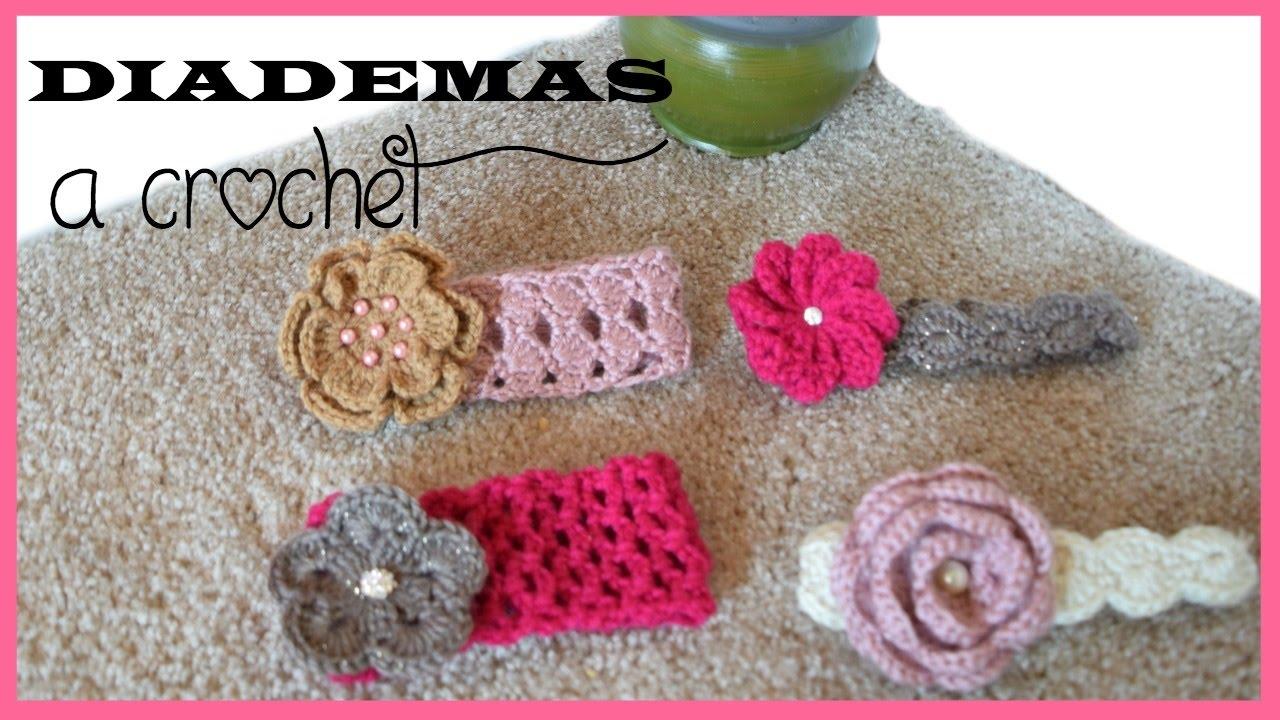 COMO TEJER DIADEMAS/BANDAS VINCHAS A CROCHET/ HOW TO CROCHET BABY ...