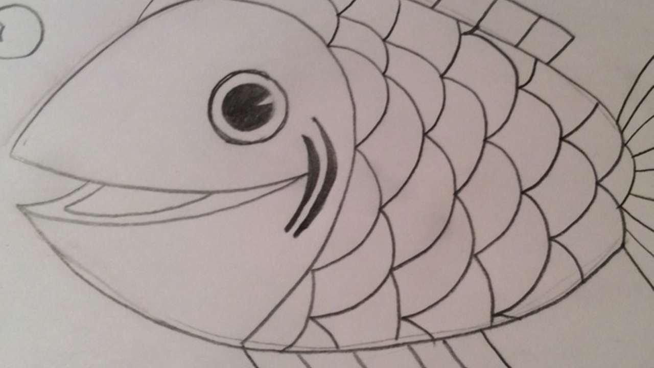 Disegna un simpatico pesce fai da te creazioni for Pesci da disegnare per bambini