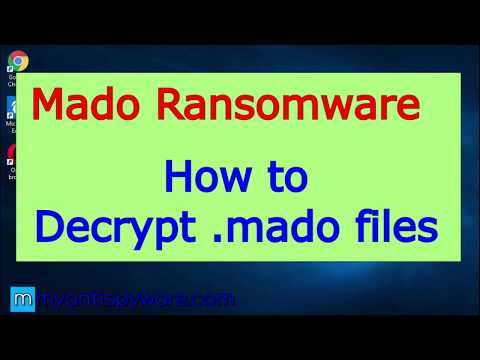 Mado Ransomware. How To Decrypt .mado Files For Free.