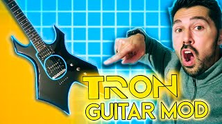 How to make your electric guitar GLOW like Tron using glow wire!!!