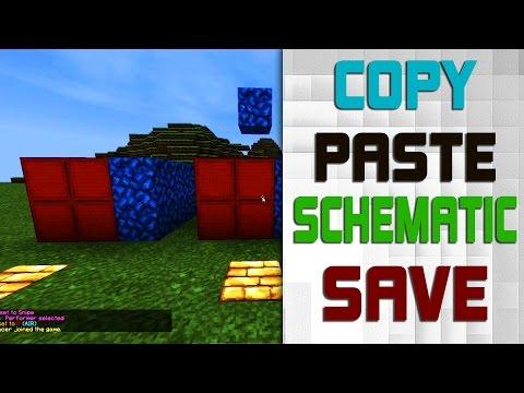 tutoial] copy  paste  save schematic [world edit]  minecraft, schematic