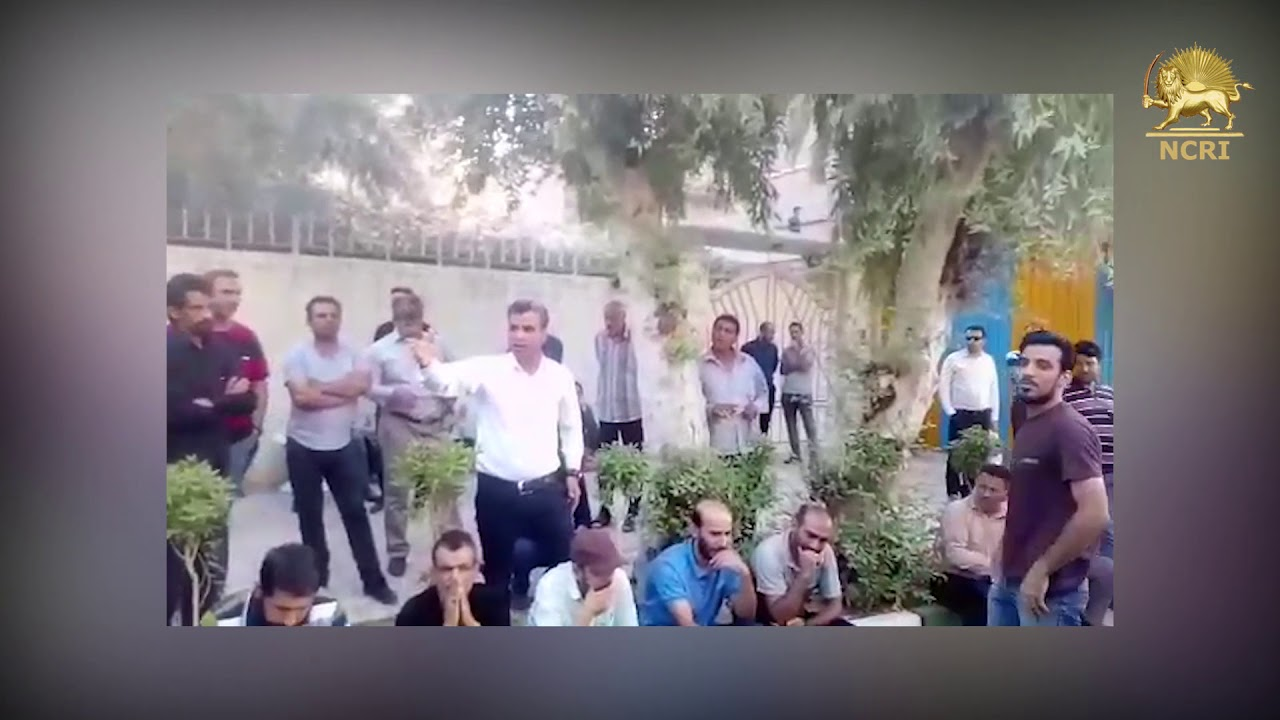 AHVAZ, Iran. Protest gathering of the Naional AlloySteel Group workers against unpaid salaries