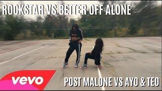 Post Malone Vs Ayo & Teo - Rockstar Vs Better Off Alone Dance Challenge Twin Version