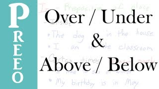 Over - Under / Above - Below (Explanation)