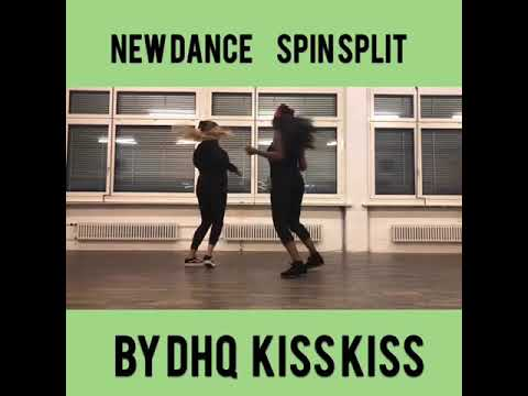 Kisskiss New dance Spin Split