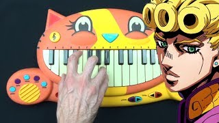 HOW TO PLAY GIORNO'S THEME ON A CAT PIANO видео