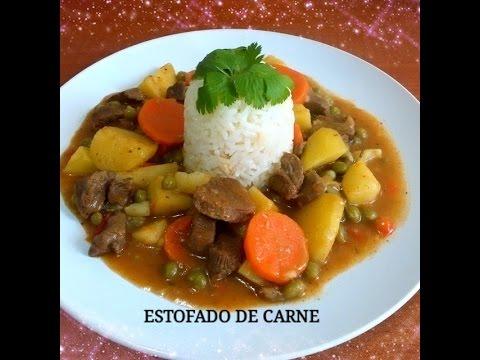 Receta Estofado De Carne Con Arroz Silvana Cocina Y Manualidades Youtube