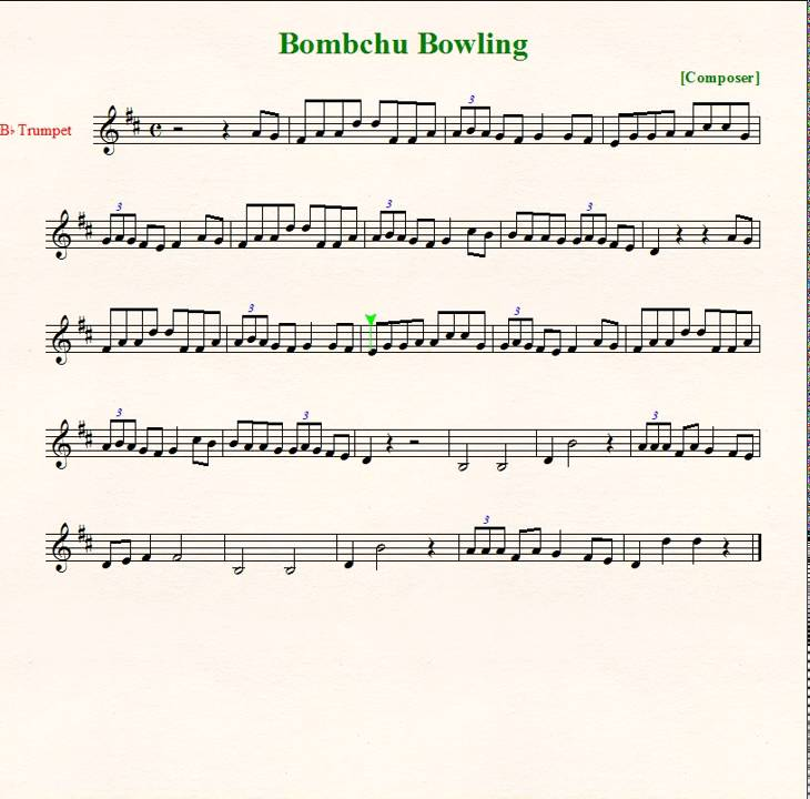 legend of zelda theme trumpet pdf