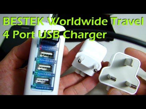 BESTEK Worldwide Travel 4 Port USB Charger