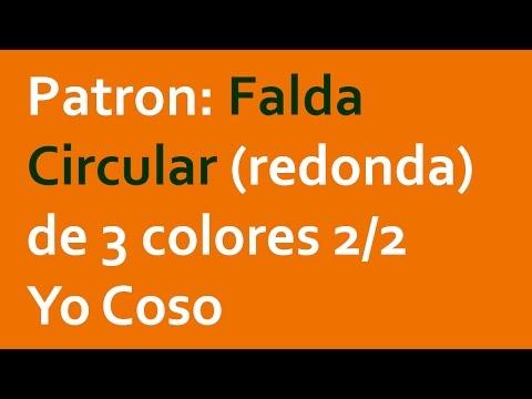 a5f794533 Repeat Patron: Falda Circular (redonda) de 3 colores 1/2 by Yo Coso ...