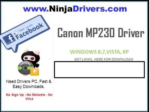 Canon MP230 Driver Windows 8 32 64bit Free Download