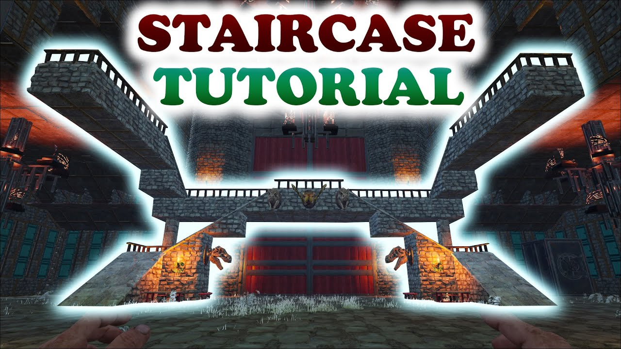 Ark staircase turorial building tips and tricks youtube for Construction tips and tricks