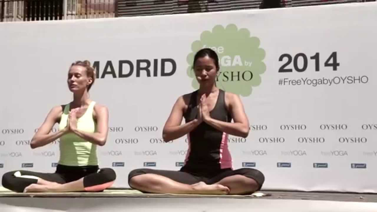 evento FREE YOGA by OYSHO - MADRID 2014 - YouTube 294f2529f9a9