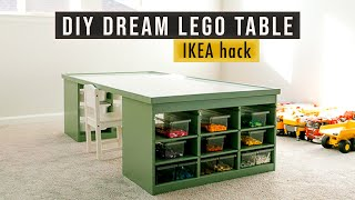 DIY LEGO table with storage | IKEA hack | If Only April