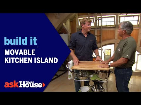 Build It: Movable Kitchen Island - YouTube
