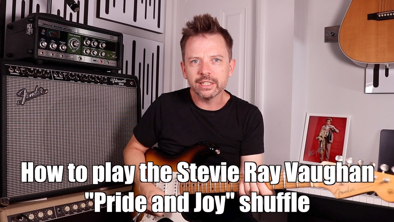 "Lesson - Play Stevie Ray Vaughan's ""Pride & Joy"" style shuffle with FREE TAB and Backing Track"