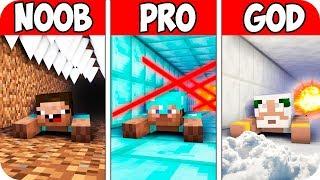 Minecraft NOOB vs PRO vs GOD : BIGGEST TUNNEL ESCAPE