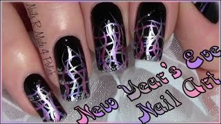 Quick Easy New Year 39 s Eve Nail Art Design Tutorial Chic Nails