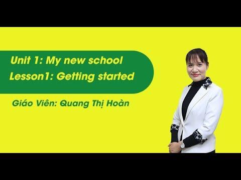 Unit 1- Getting Stared – tiếng Anh lớp 6 – cô Quang Thị Hoàn