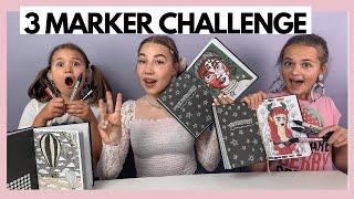 3 MARKER CHALLENGE W/ ELINA JA SOFIA | Nelli Orell ♡