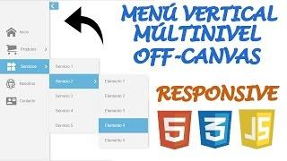 Crea un Menú Vertical Múlti Nivel Off-Canvas [Responsive] con CSS3, HTML5 y JavaScript