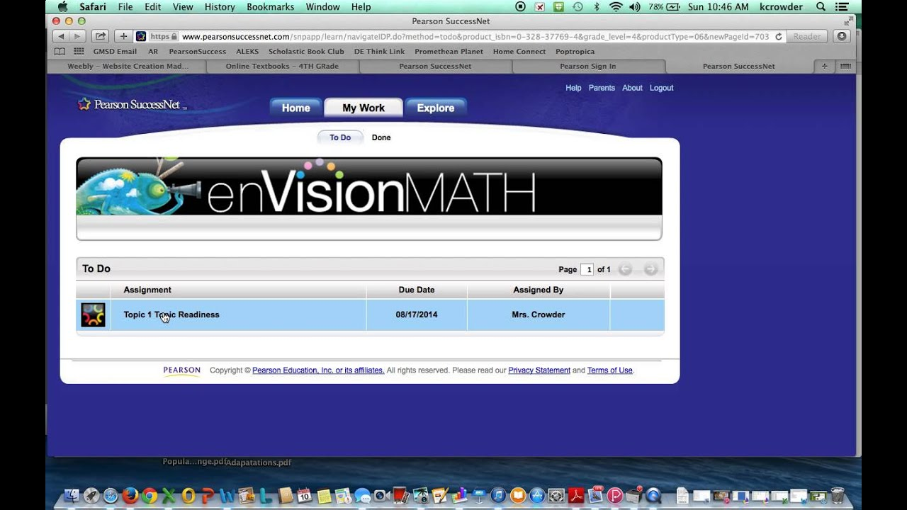 Pearson Successnet HW Tutorial