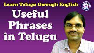 23-4-2017-Spoken Telugu (Intermediate Level)-Useful Phrases in Telugu - Learn Telugu through English