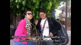 Prashamsa Shrestha- Sangsar Bhulaune Ft. Kamal Khatri (Lyrics video)
