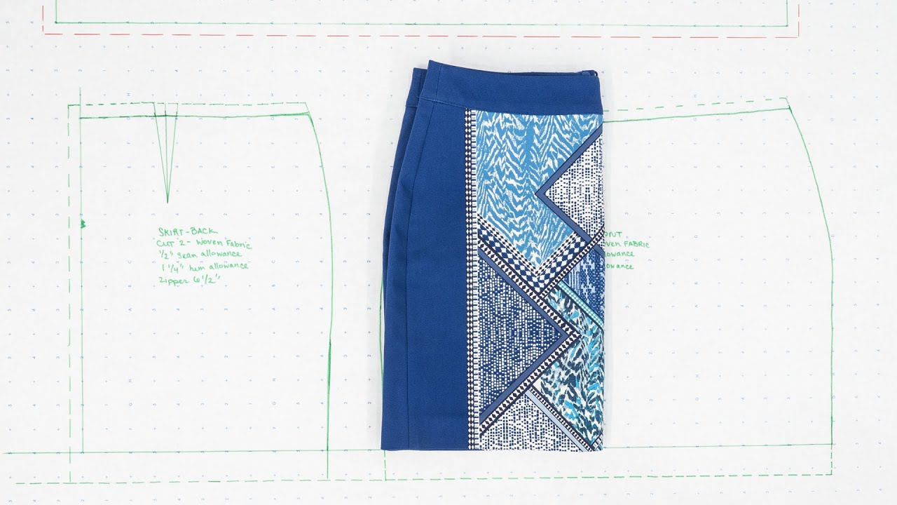 How to properly build a pattern of a pencil skirt, detailed photos with patterns