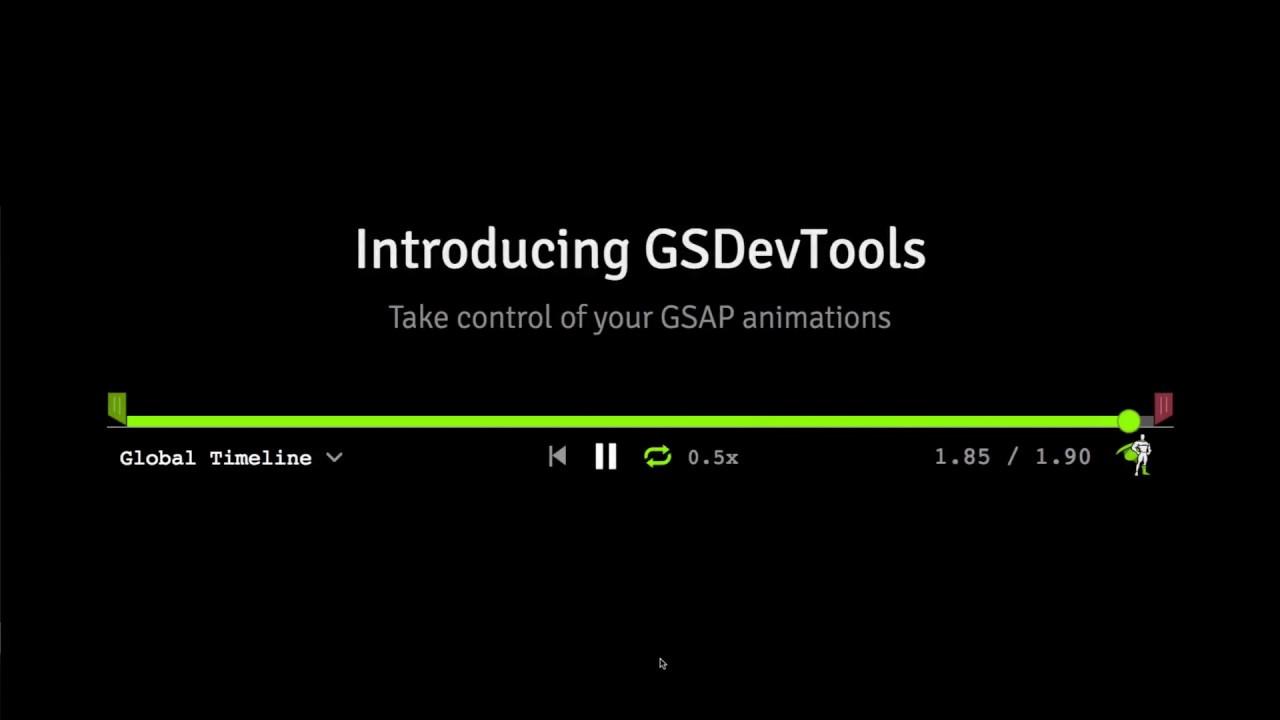 GSDevTools - Products - GreenSock
